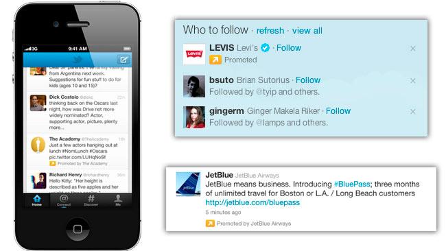Los tuits patrocinados llegan a los móviles
