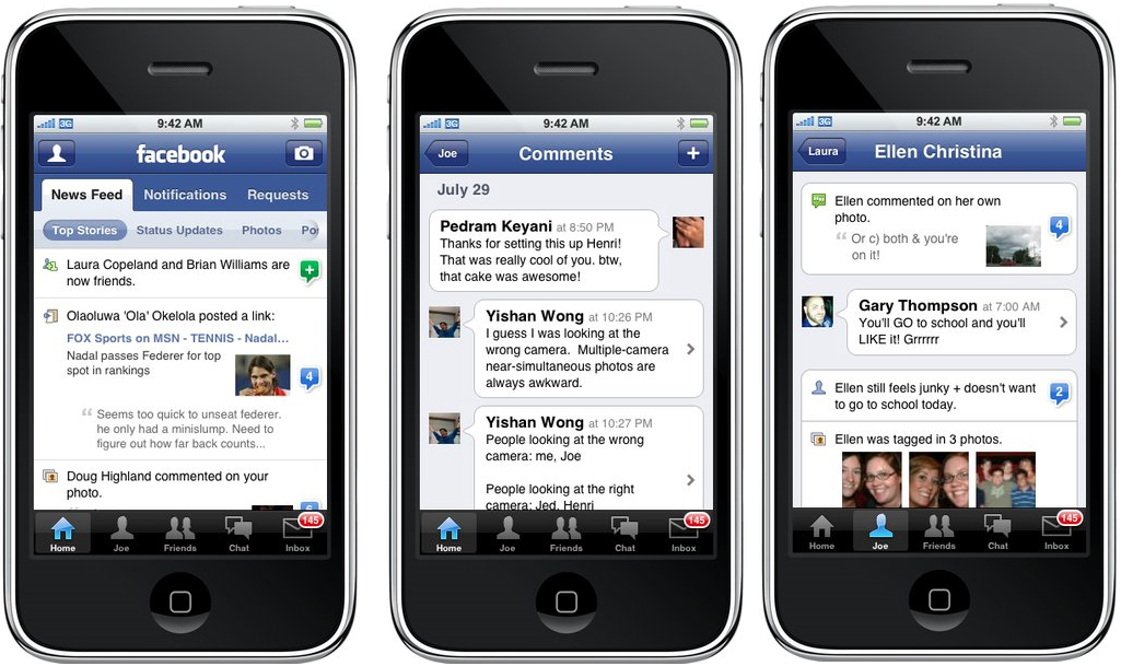 Facebook-application-update