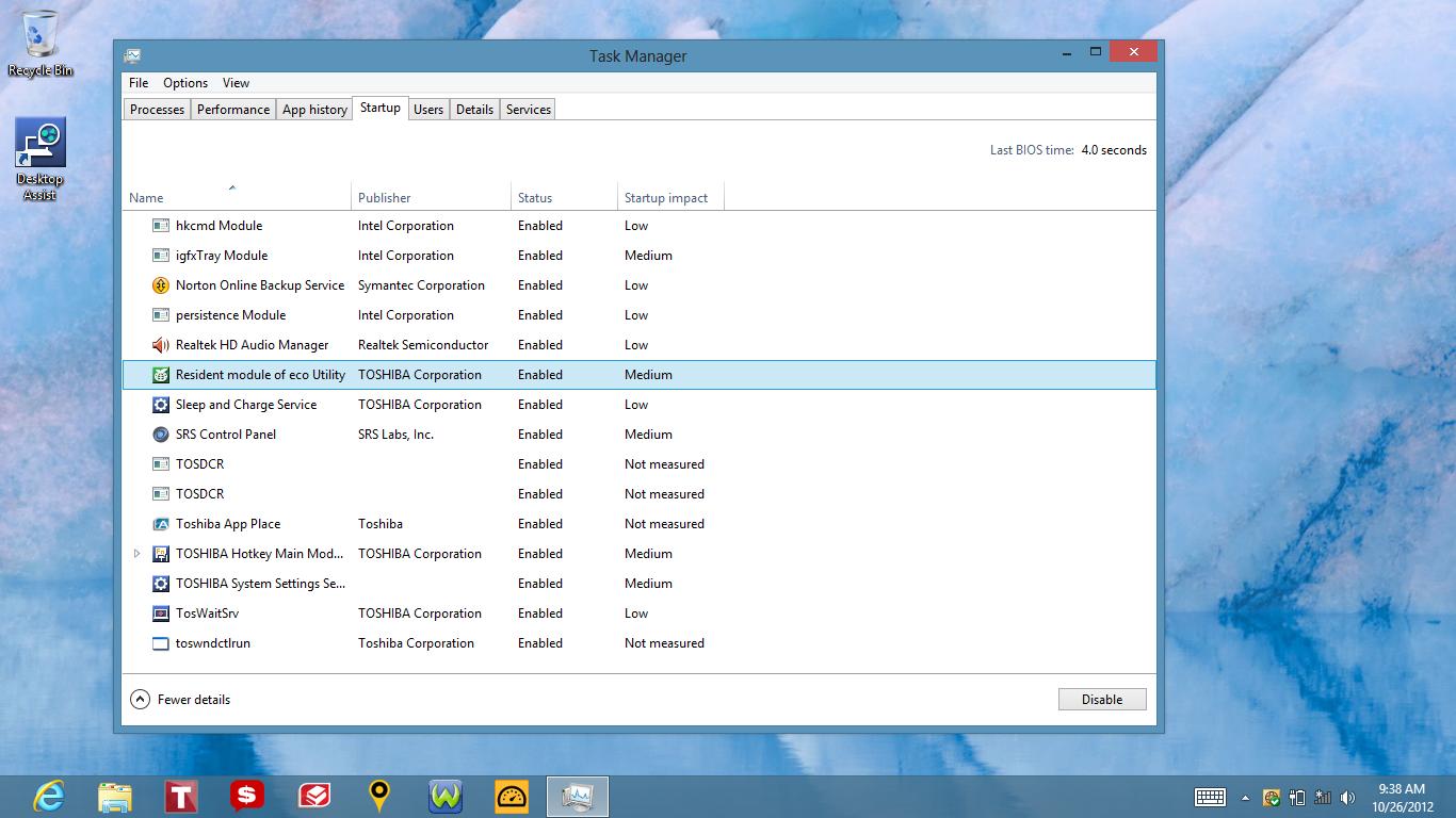 Windows 8 administrador de tareas