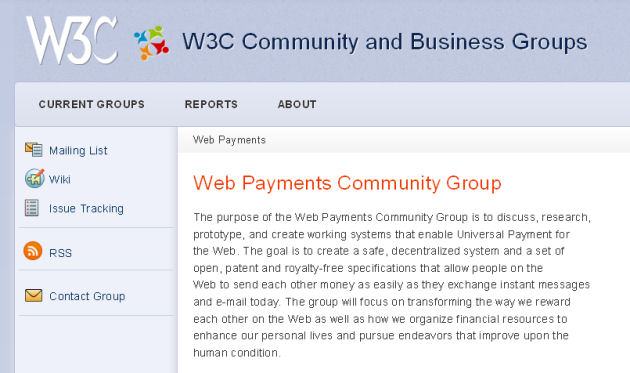 W3c payments