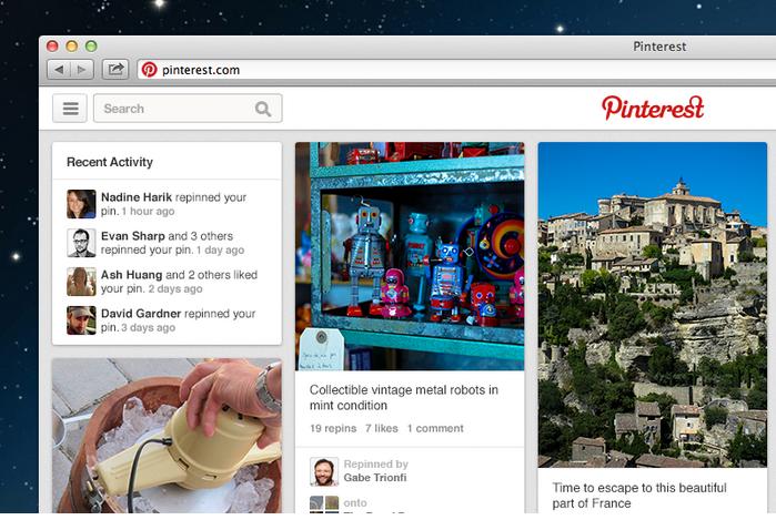Pinterest renueva su sitio