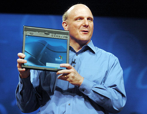 Hibrido tablet pc ballmer