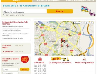 Just-Eat, servicio para localizar restaurantes