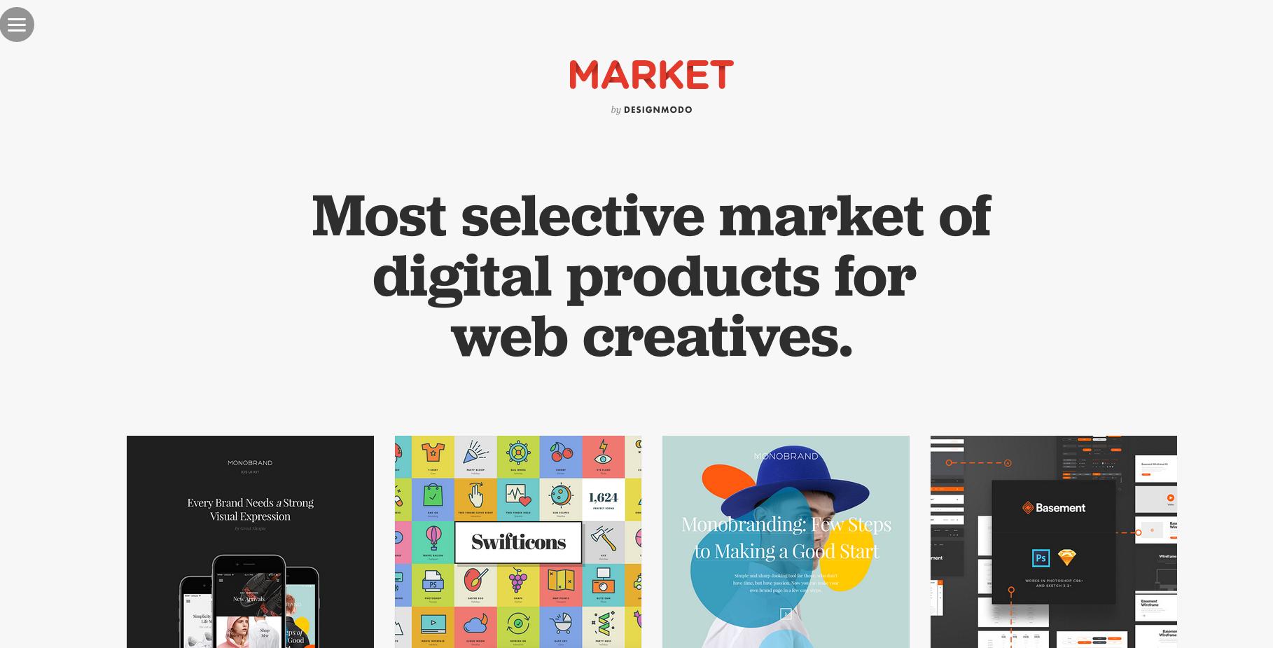 Aplicaciones: Market ( de Designmodo)