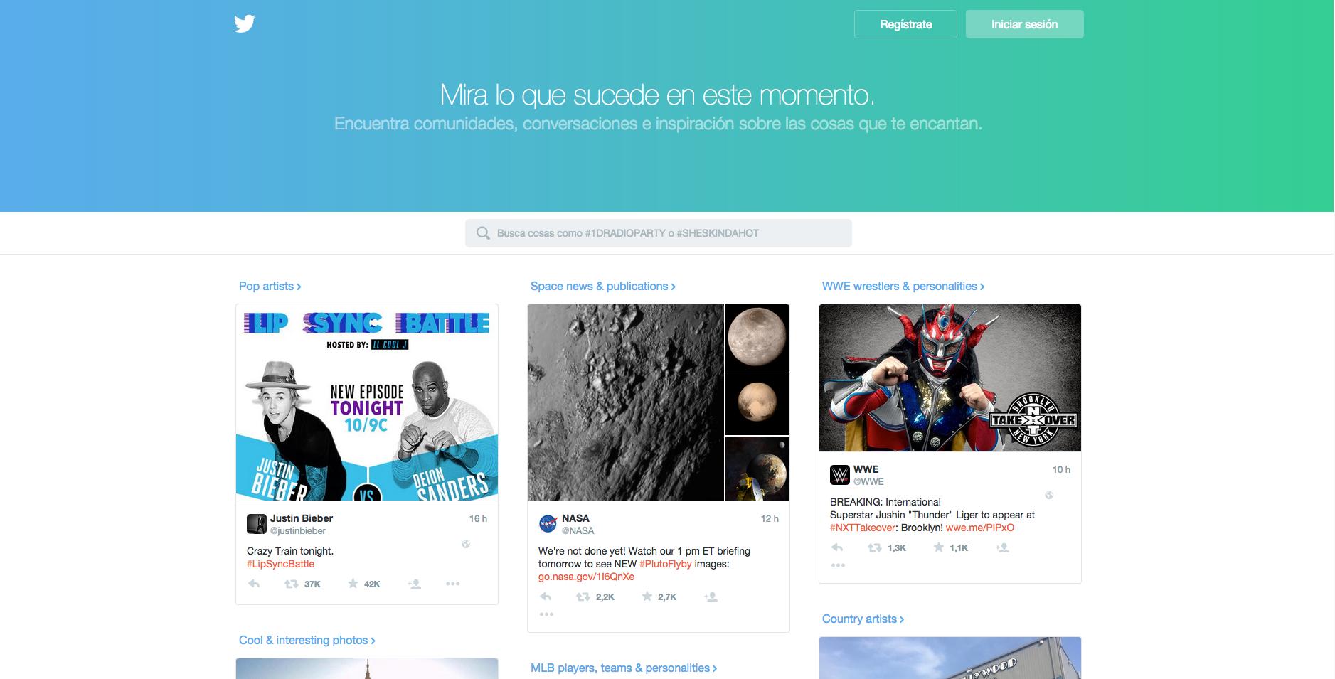 La nueva página de inicio de Twitter quiere atraer nuevos usuarios