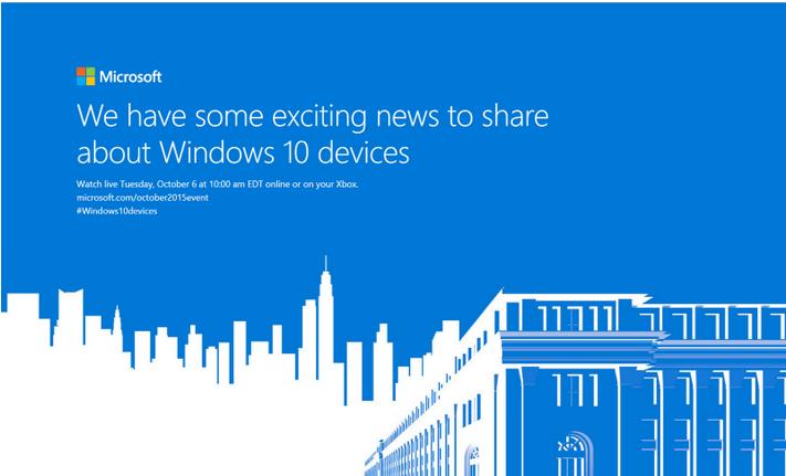 Microsoft anuncia un evento especial en Octubre