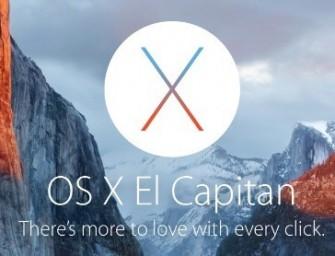 Mac OS X El Capitan está listo para instalar