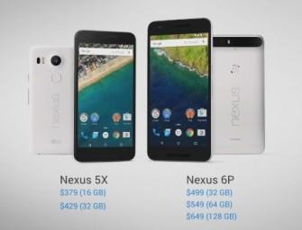 Google presenta oficialmente los Nexus 5X y 6P