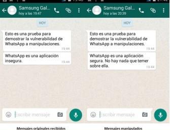 WhatsApp se puede manipular sin dejar rastro