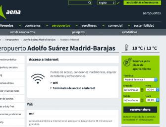 Lista de aeropuertos españoles con wifi gratuita