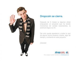Dropcoin anuncia el cierre de su negocio