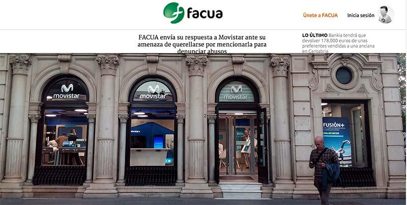 FACUA responde a Movistar