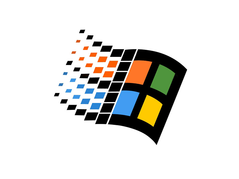 Logo clásico de Windows de Microsoft
