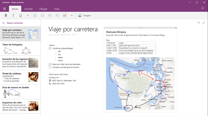 Captura de OneNote