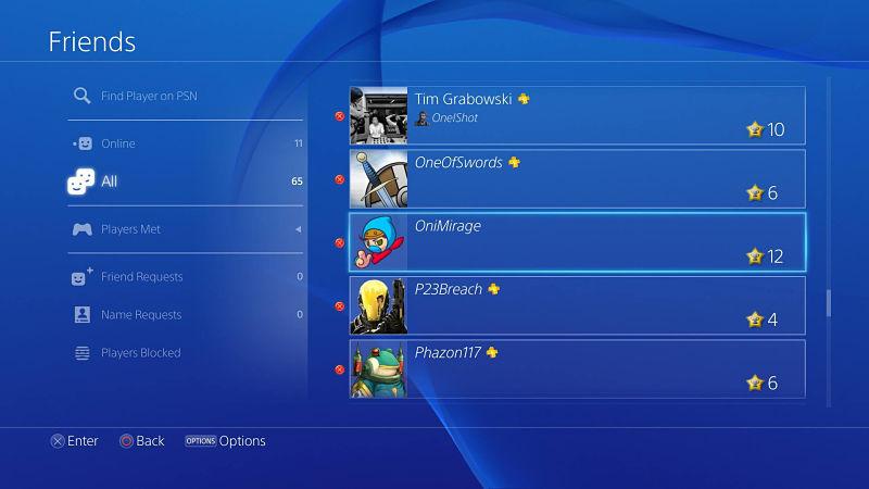 PlayStation 4 mensajeria