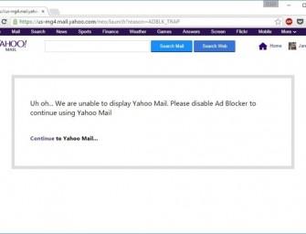 Yahoo comienza a bloquear a los usuarios con Ad Blockers activados