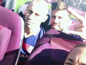El FC Barcelona disfruta de la wifi de Qatar Airways