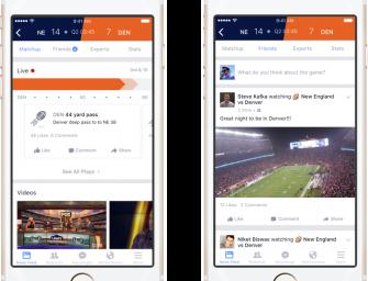 Llega Facebook Sports Stadium para seguir eventos deportivos en directo