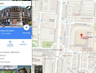 Los 'comepipas' del Bernabéu y otros destinos de Google Maps