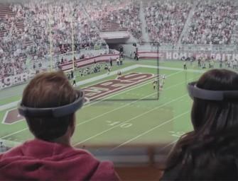 Microsoft muestra el futuro de la Super Bowl con HoloLens