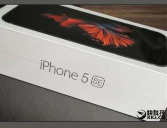 El iPhone 5SE se deja ver en sus primeras imágenes