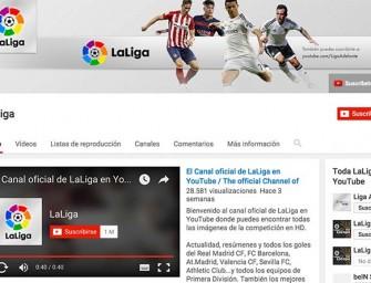 El canal YouTube de LaLiga supera el millón de usuarios