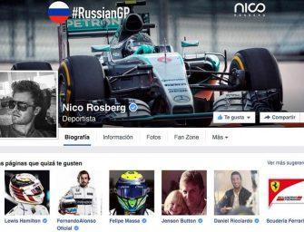 Facebook se sube al Fórmula 1 de Nico Rosberg