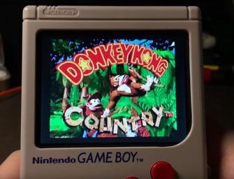 Así se juega a juegos de Super Nintendo en una Game Boy