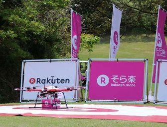 Rakuten reparte pedidos con drones en un campo de golf japonés
