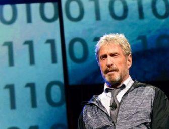 John McAfee vuelve al negocio de la ciberseguridad