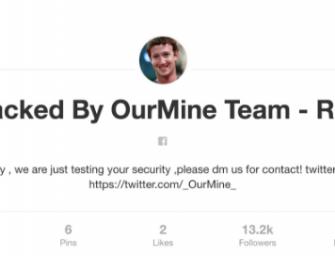 Zuckerberg hackeado: acceden a varios de sus perfiles en redes sociales