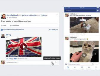 Facebook ya permite insertar un vídeo en los comentarios