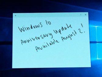 Microsoft pone fecha a la gran actualización aniversario de Windows 10