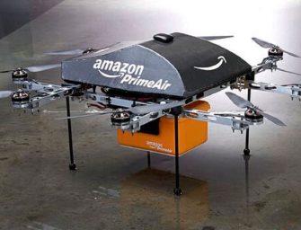 Los drones de Amazon se podrán recargar en farolas