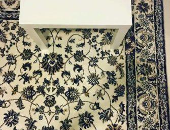 ¿Dónde está el iPhone en esta alfombra?