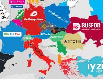 Mapa de las startups tecnológicas con mayor financiación de Europa