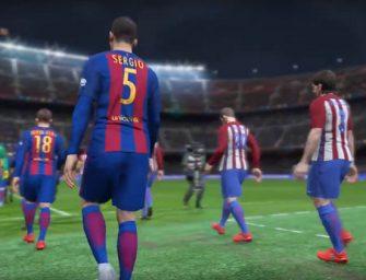 PES 2017 muestra la espectacular entrada del Barcelona en el Camp Nou