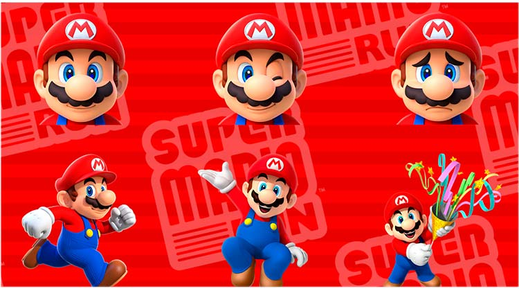 Super Mario Run, stickers para iOS 10