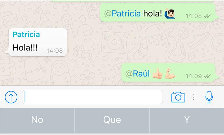 WhatsApp activa las menciones particulares en los grupos