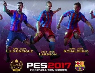 Las leyendas del FC Barcelona vuelven al terreno de juego con PES 2017