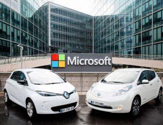Microsoft se suma a la carrera del coche conectado junto a Renault-Nissan