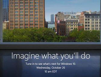 Qué esperar de la presentación de Microsoft del 26 de octubre