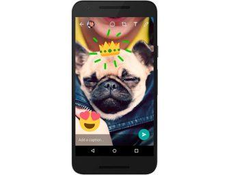 WhatsApp clona los stickers de Snapchat