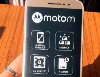Imágenes filtradas muestran el aspecto del Motorola Moto M
