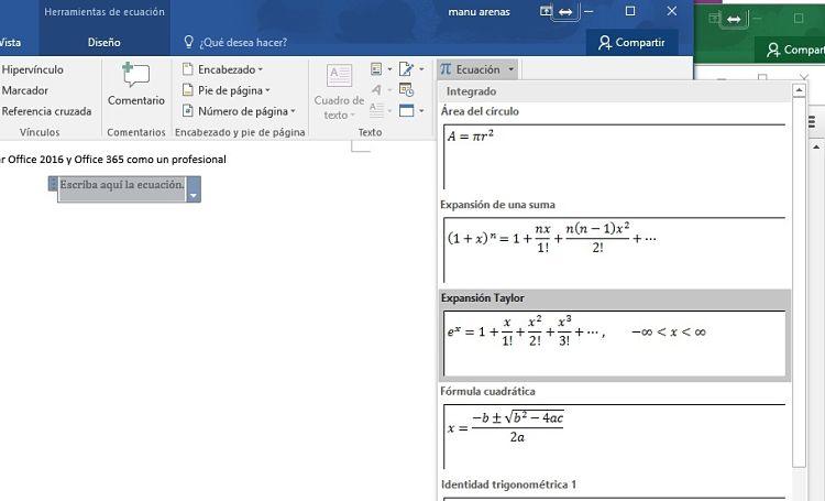 Las Matemáticas Pierden Su Dificultad Con Microsoft Word