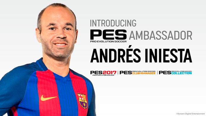 Konami nombra a Andrés Iniesta embajador de PES 2017