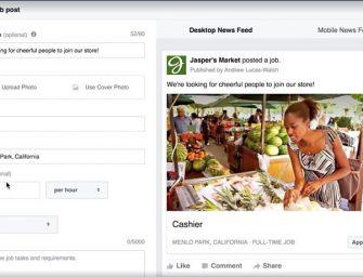 Facebook entra a competir con LinkedIn y agrega una sección para encontrar empleos