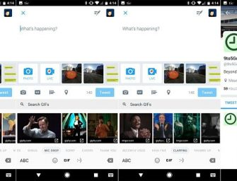 Los teclados de Twitter para Android se actualizan para enviar GIF animados