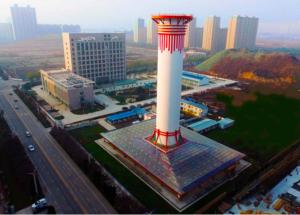 China prueba una chimenea gigante para combatir la contaminación
